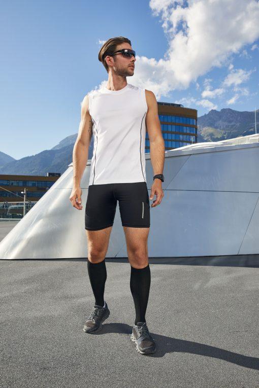 Мъжки спортен потник - цвят Бял/Черен