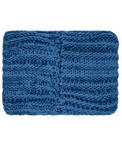 Дамски плетен цял шал - цвят Тъмносин