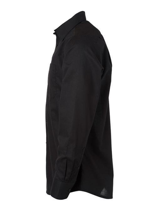Мъжка риза с дълъг ръкав Oxford - цвят Черен