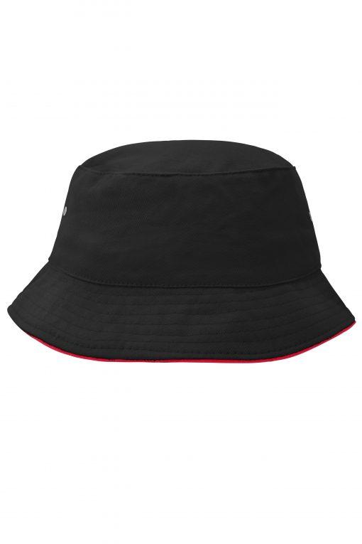 Шапка с периферия  - цвят Черно/Червено