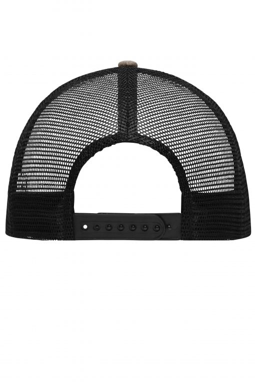 Дишаща шапка с козирка - цвят Сив Меланж / Черен