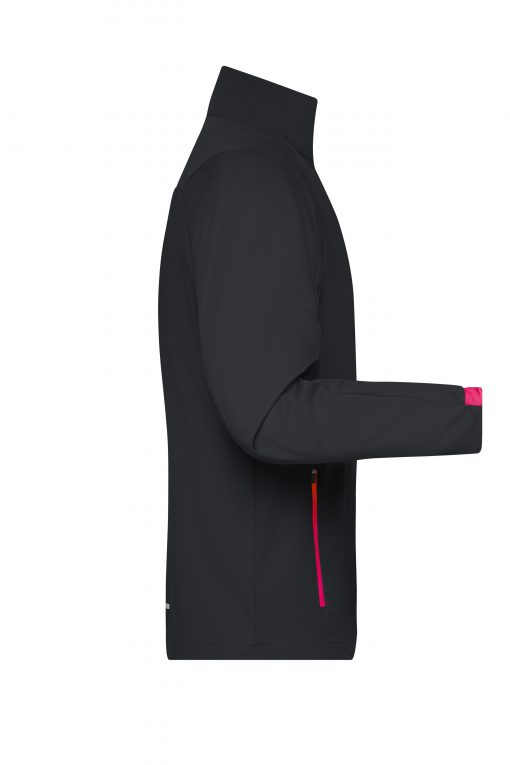 Мъжко спортно софтшел яке - цвят Черно/Светлочервено