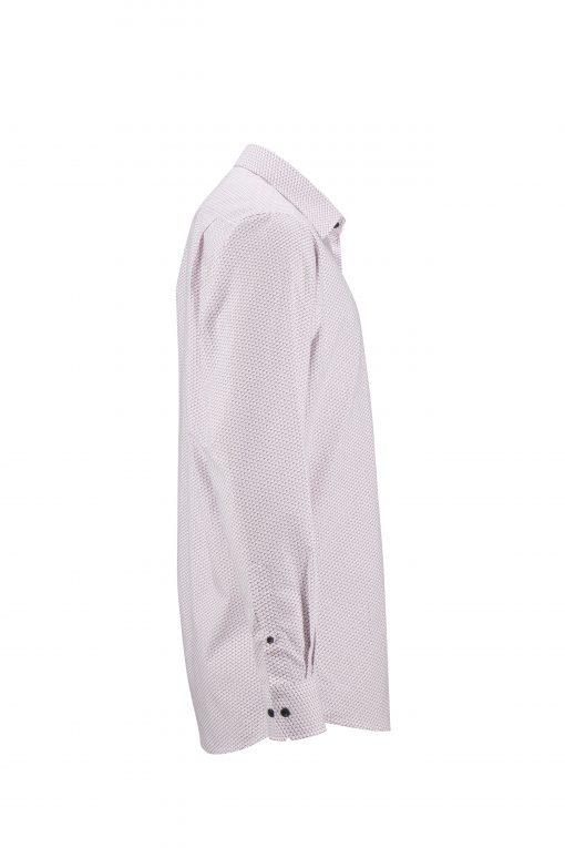 Мъжка риза с дълъг ръкав - цвят Бяло/Червено