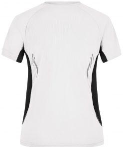 Дамска тениска за бягане - цвят Бял/Черен