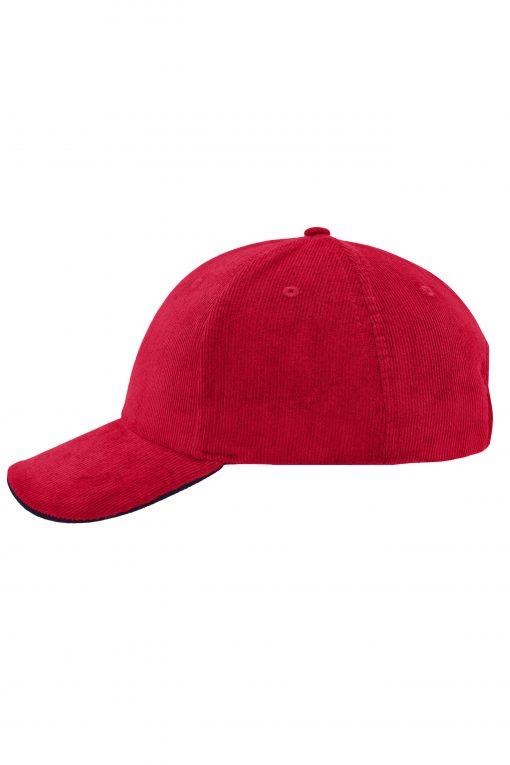 Шапка с козирка - цвят Червено/Флота