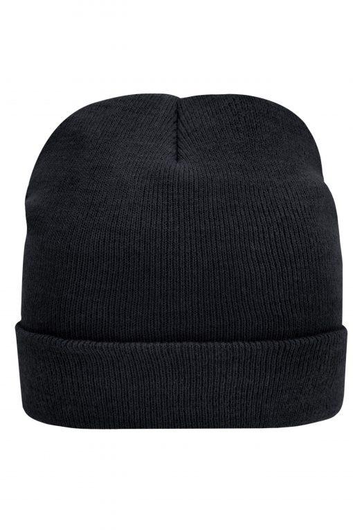 Плетена шапка Thinsulate - цвят Черен
