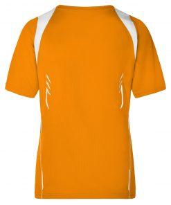Дамска спортна тениска - цвят Оранжево/Бяло