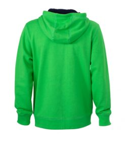 Мъжки спортен суичър - цвят Зелен/Морско Синьо