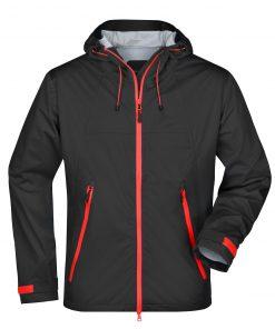 Мъжко софтшел яке - цвят Черно/Червено