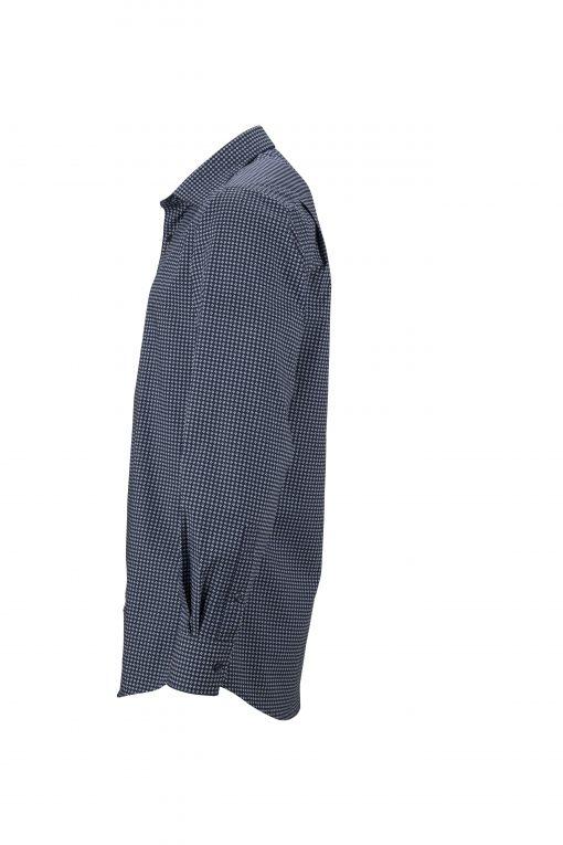 Мъжка риза с дълъг ръкав - цвят Морско Син/Бял