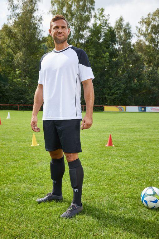 Мъжка футболна тениска - цвят Бял/Черен