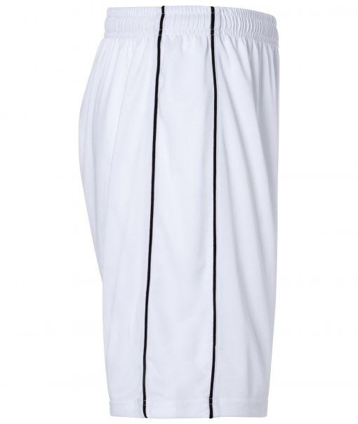 Спортни къси панталони Basic - цвят Бял/Черен