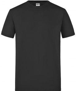 Мъжка вталена тениска - цвят Черен