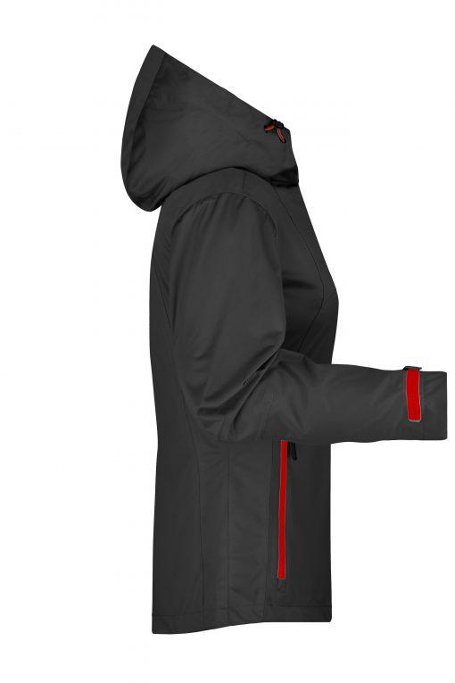 Дамско софтшел яке - цвят Черно/Червено