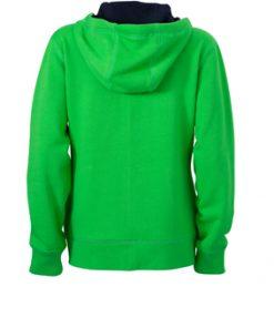 Дамски спортен суичър - цвят Зелен/Морско Синьо