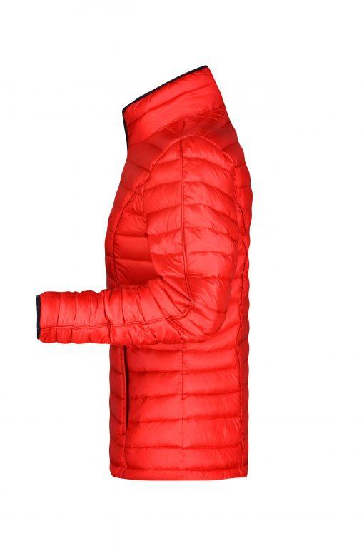 Дамско зимно шушляково яке - цвят Червено/Черно