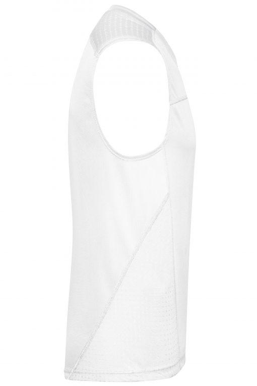 Мъжки потник за бягане - цвят Бяло/Бяло