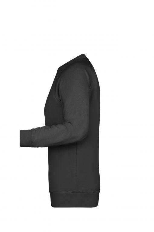 Дамски пуловер Raglan - цвят Черен