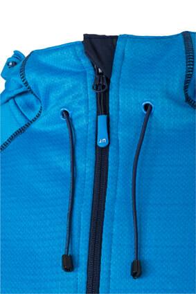 Мъжко поларено яке - цвят Синьо-Зелен/Тъмносин