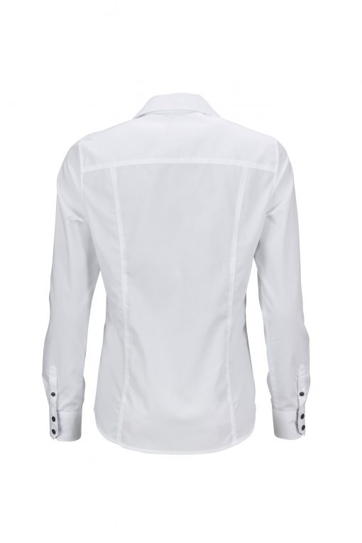 Дамска риза с Easy-Care покритие - цвят Бяло/Синьо-Бяло