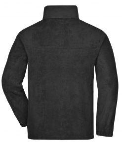 Мъжки полар с цял цип - цвят Черен