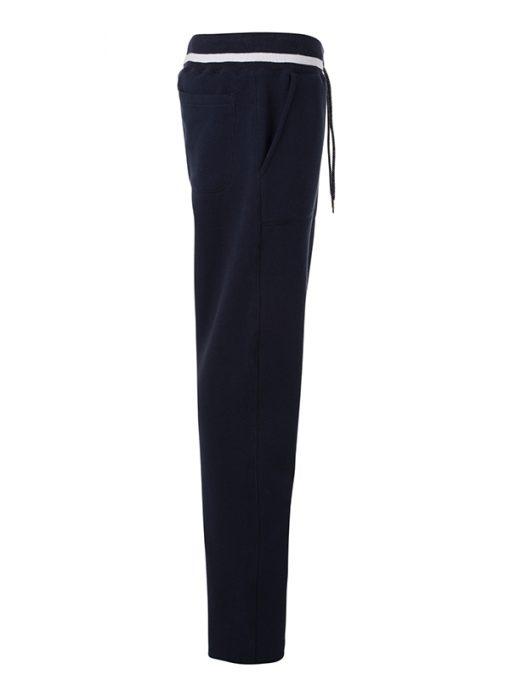 Дамско спортно долнище - цвят Морско Син/Бял