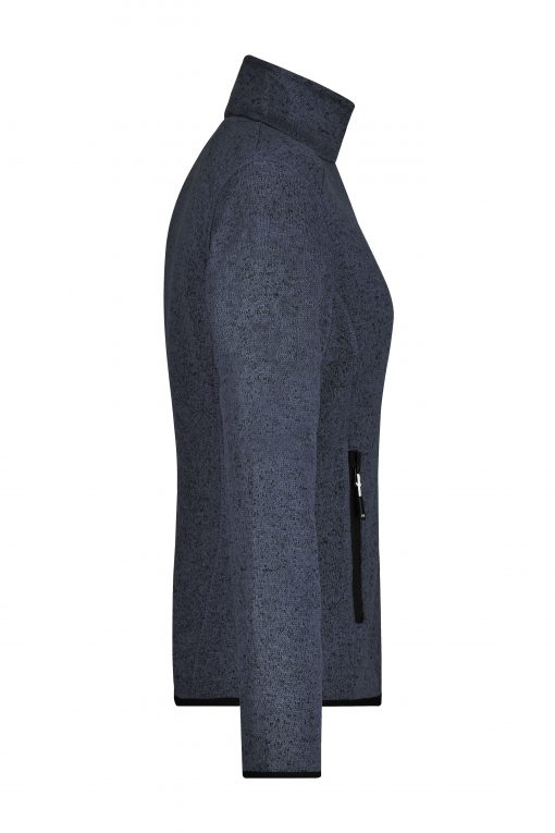 Дамски туристически полар - цвят Тъмно-Сив-Меланж/Сребро