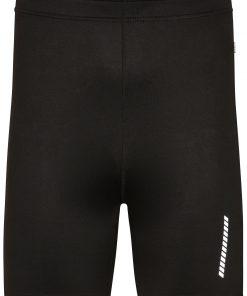 Мъжки спортни къси панталони - цвят Черен