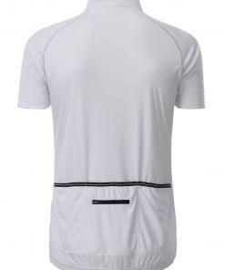 Мъжка тениска за колоездене - цвят Бял/Черен