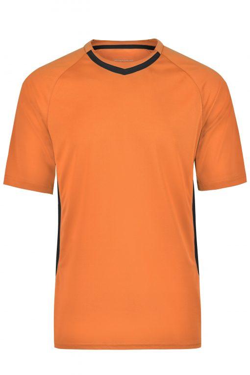 Мъжка футболна тениска - цвят Оранжево/Черно