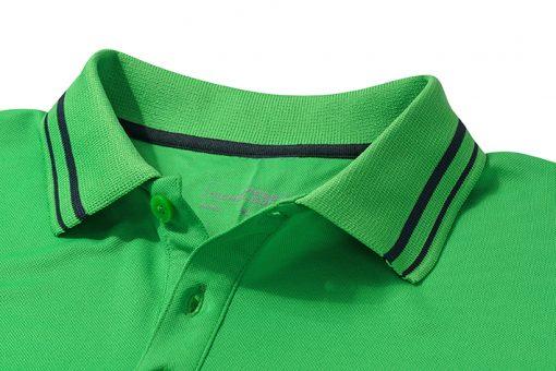 Мъжка тениска с яка Active Polo - цвят Черно/Червено