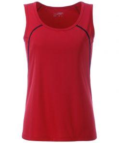 Дамски потник за фитнес - цвят Червено/Черно