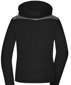 Дамско зимно яке Materialmix - цвят Черен/Антрацит-Меланж