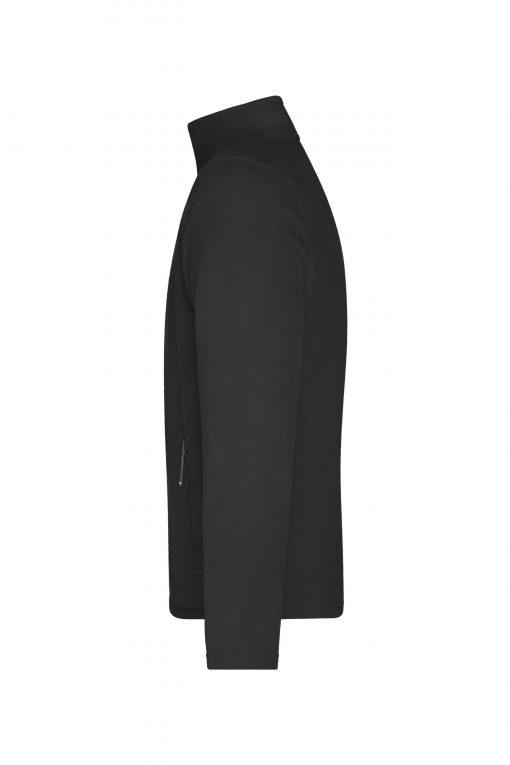 Мъжко поларено яке - цвят Черен
