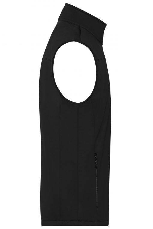 Мъжки софтшел елек - цвят Черен