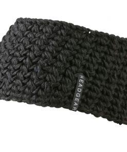 Плетена лента за глава Hekel - цвят Черен