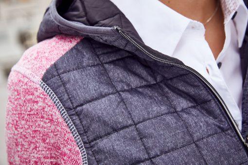 Дамско хибридно яке - цвят Сив Меланж/Антрацит-Меланж