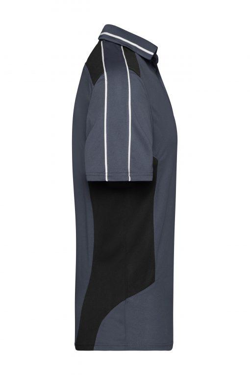 Мъжка тениска с яка - цвят Индиго/Черно