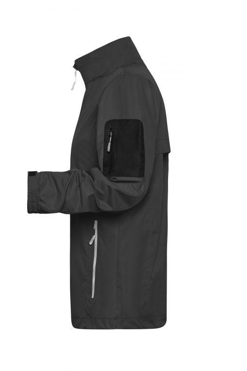 Мъжко яке тип ветровка - цвят Черно/Сребро