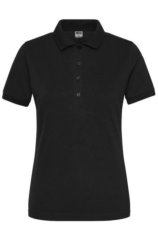 Дамска тениска с яка Polo Stretch - цвят Черен