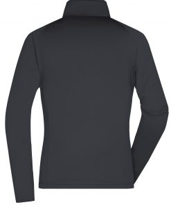 Дамски полар с яка - цвят Черно/Сребро