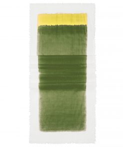 Памучен шал - цвят Маслиново / Натурално