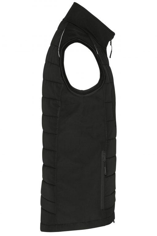 Мъжки софтшел елек - цвят Черно/Черно