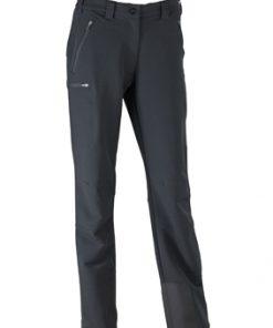Дамски туристически панталон - цвят Черен
