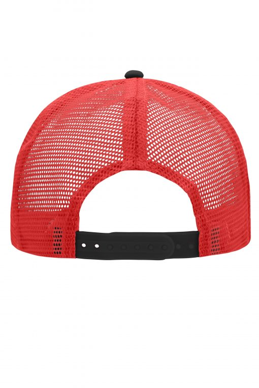 Дишаща шапка с козирка - цвят Черно/Червено