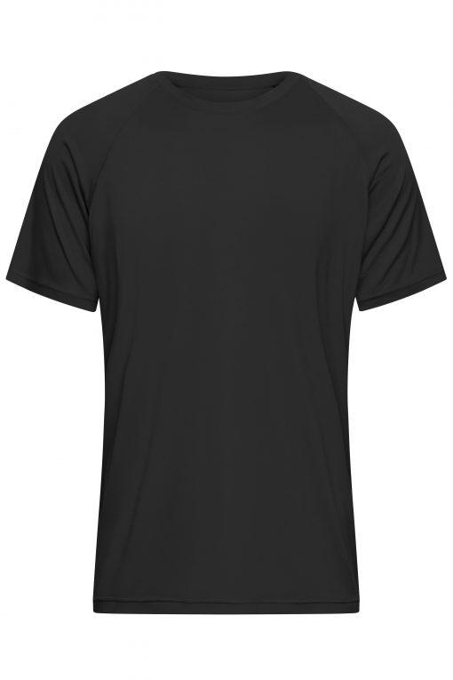 Мъжка спортна тениска - цвят Черен