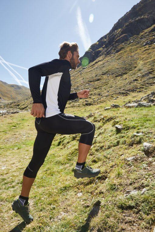 Мъжка блуза за бягане - цвят Бял/Черен