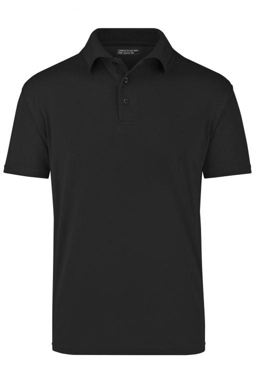 Тениска с яка - цвят Черен