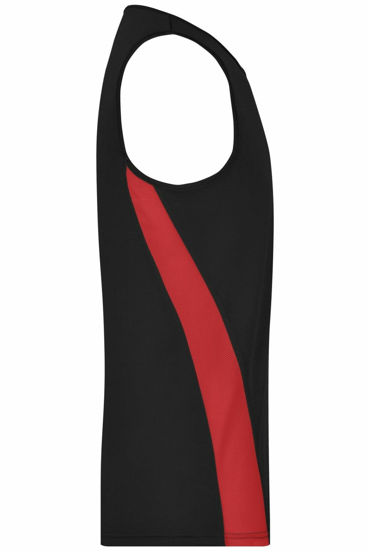 Мъжки спортен топ - цвят Черно/Червено
