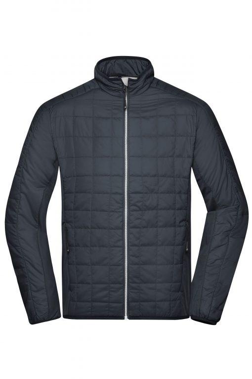 Мъжко хибридно яке - цвят Черно/Сребро